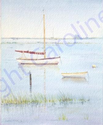 Flood Tide, Blakeney I (Watercolour)