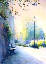 Light on the Medway (watercolour)