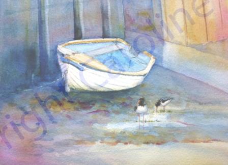 Low Tide (Watercolour)