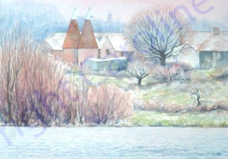 Oasts at Bewl, Winter