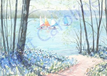 Spring, Bewl Valley (Watercolour)