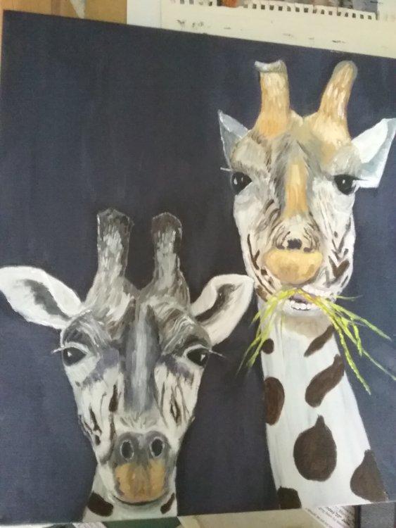 2 Giraffes SOLD