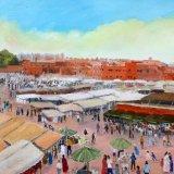 Marakesh Market framed £100