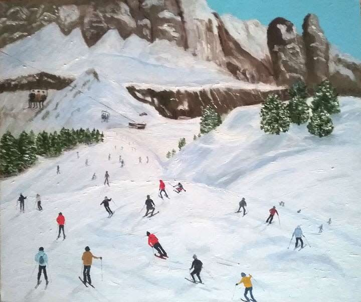 skiing in the alps £100