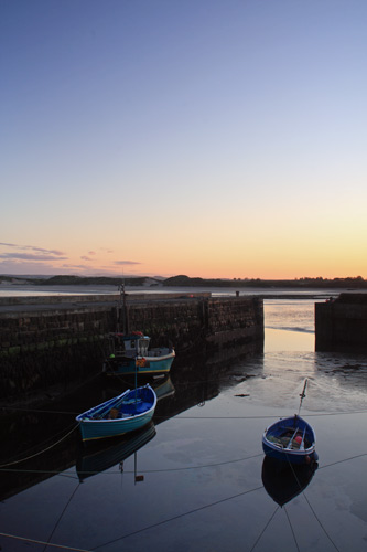 Beadnell Harbour at Sunset