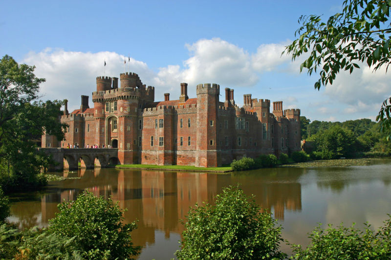 Reflections in the mote at Herstmonceux Castle, Sussex