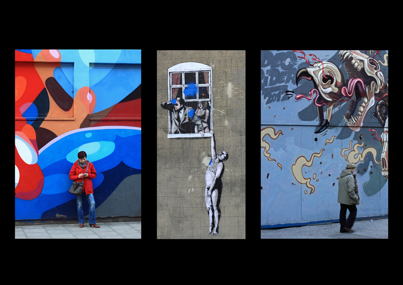 Triptych Colourful Bristol