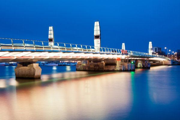 New Bridge all lit up