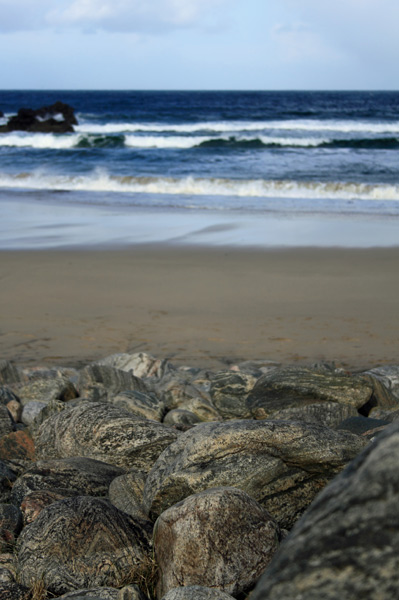 Gneiss Rocks on Dail Beg beach