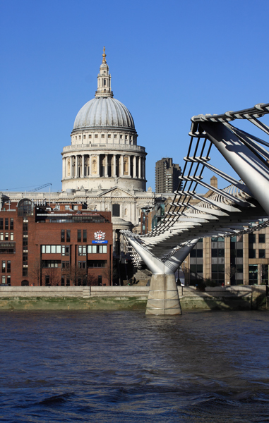 Looking back to St Pauls