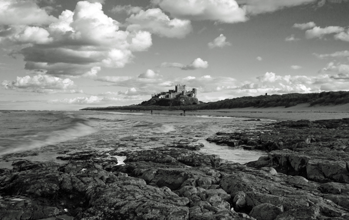 Bamburgh Castle Revisited - B&W