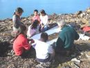 Painting Plein Air  with the Inuit kids of  Ittoqqortoomiit East Greenland. Photo