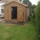 Shed on a Post and Beam framework