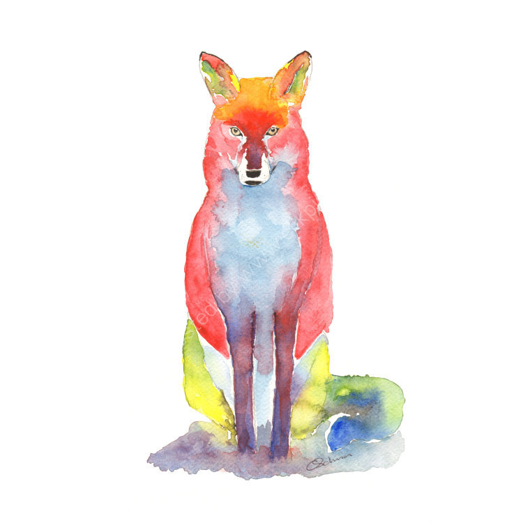 Mr Fox painting