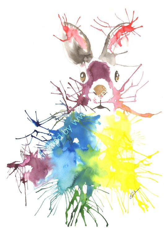 Acrylic ink Hare