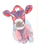 Jersey cow print in pink