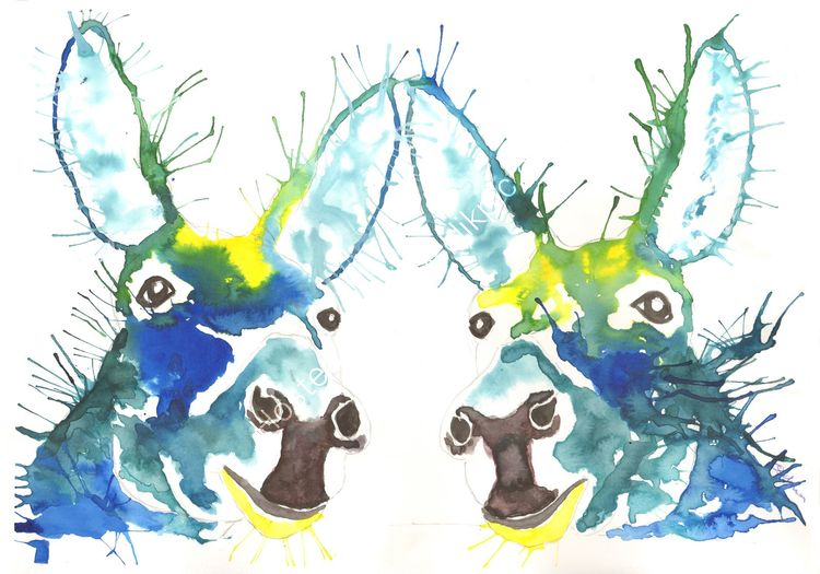 acrylic Ink Donkeys