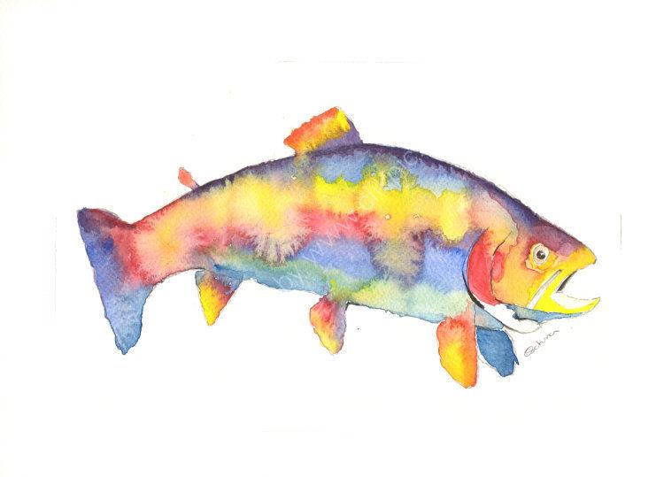 Colourful fish print