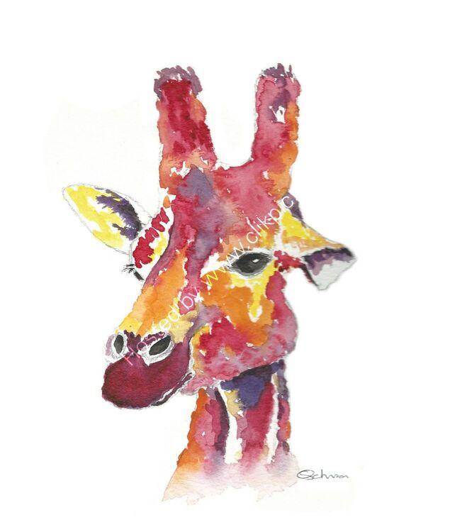 watercolour Giraffe