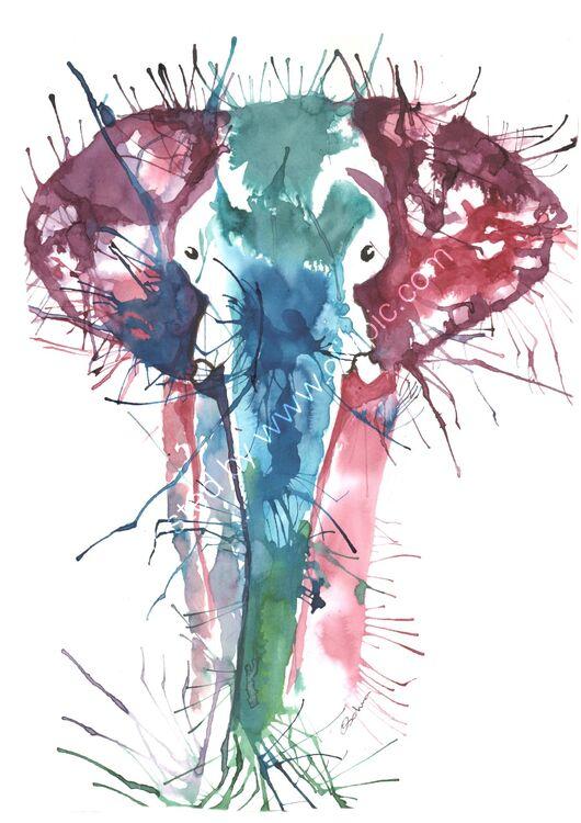 acrylic Ink Elephant