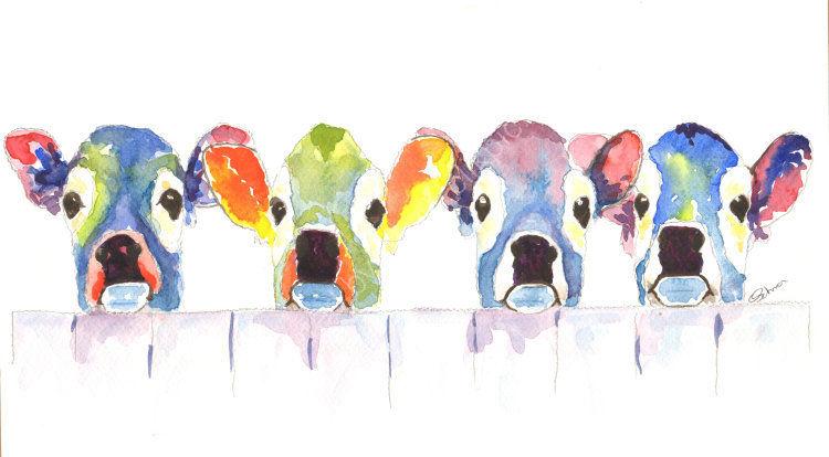 watercolour Jersey Calfs