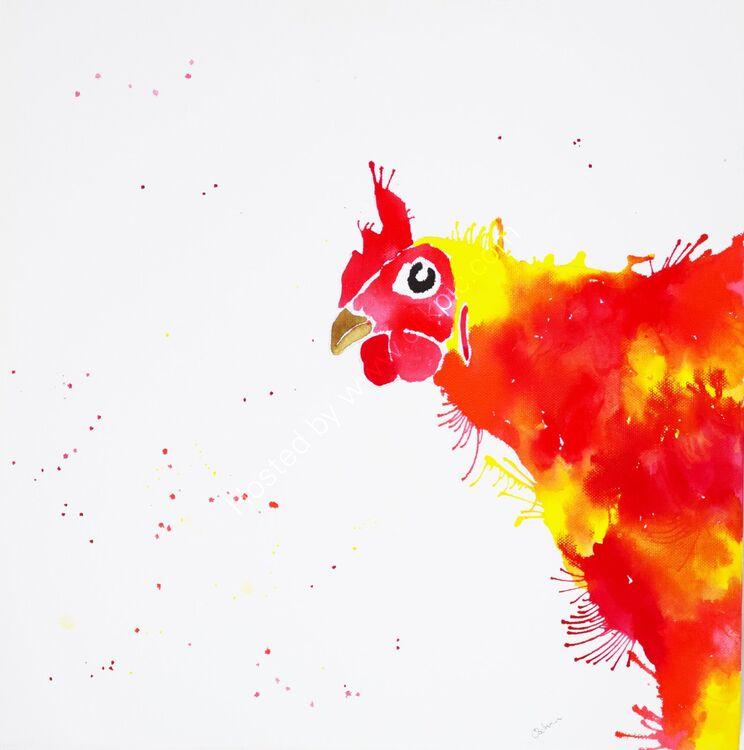 acrylic Ink Orange Hen