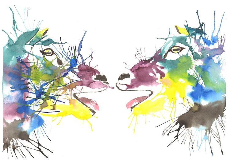 acrylic Ink Sheep