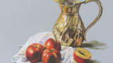 Brass Jug and Nectarines