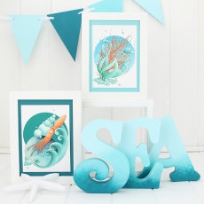 """""""Briny Blue"""" Collection and Sea Letters gifts"""