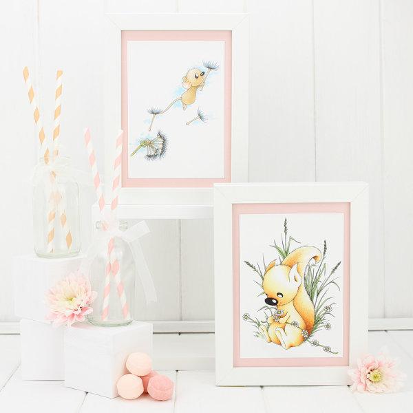 Little_Acorns_Framed_Peach_Postcard_collection