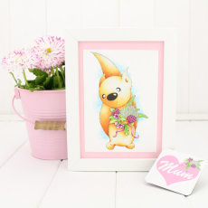 """""""Posy"""" print & magnet from our """"Little Acorns"""" & """"Botanicals"""" collection."""
