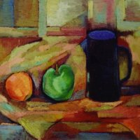 Still-Life-with-Black-Jug-30x40cm-oil