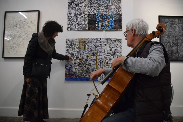 Sound Image performance with the cellist John Bean 2019 photo credit Robert P. Clark