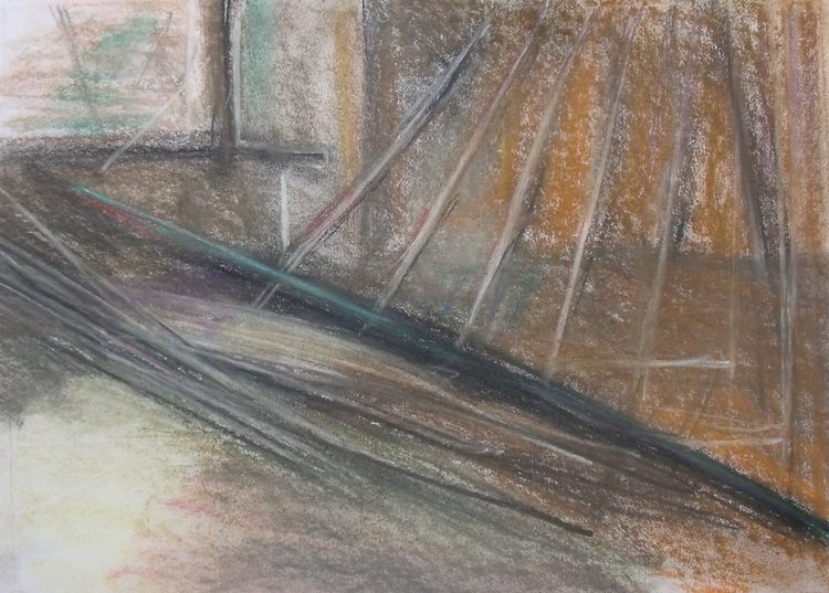 pastel  on paper Axisweb vacant space Huddersfield