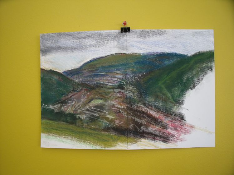 A3 drawing Rhondda valley