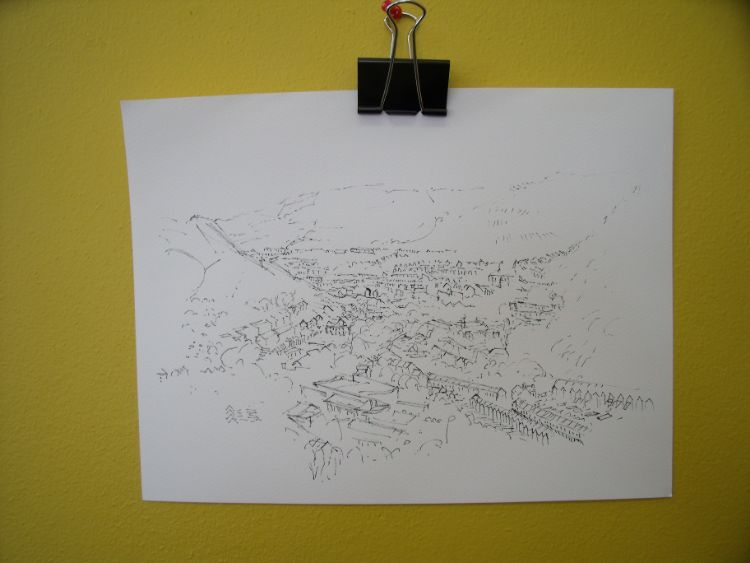 Rhonnda Valley drawing A4 size
