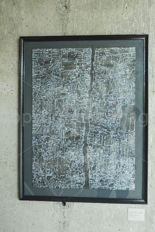 city drawing 2015, 76x56cm acrylic on paper (photo by Joe Grasso)