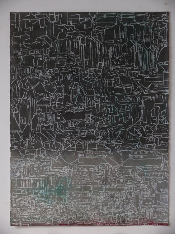 Jane Walker City watercolour 76x56cm 2017