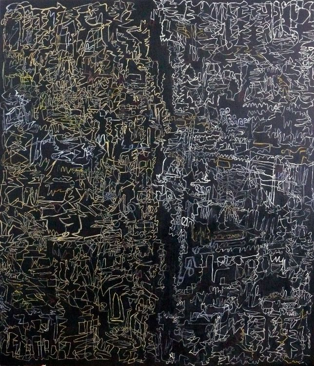 Divided City oil on canvas 150x130cm 2014