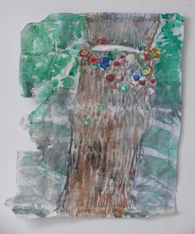 Jane Walker, Save Me, watercolour, 34x25cm