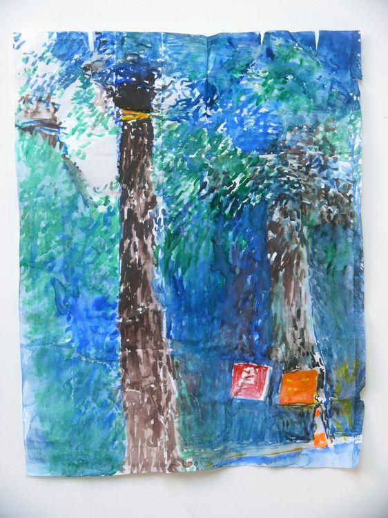 Jane Walker, Yellow Ribbon Campaign, watercolour, 34x25cm