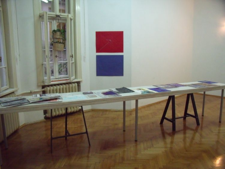 Jane Walker installation of exhibition in Sofia 2018