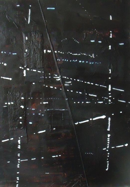 Hamburg 9, acrylic and collage on paper 76x56cm 2019