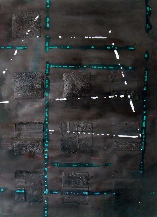 Hamburg 10 acrylic and mixed media on paper 76x56cm 2019