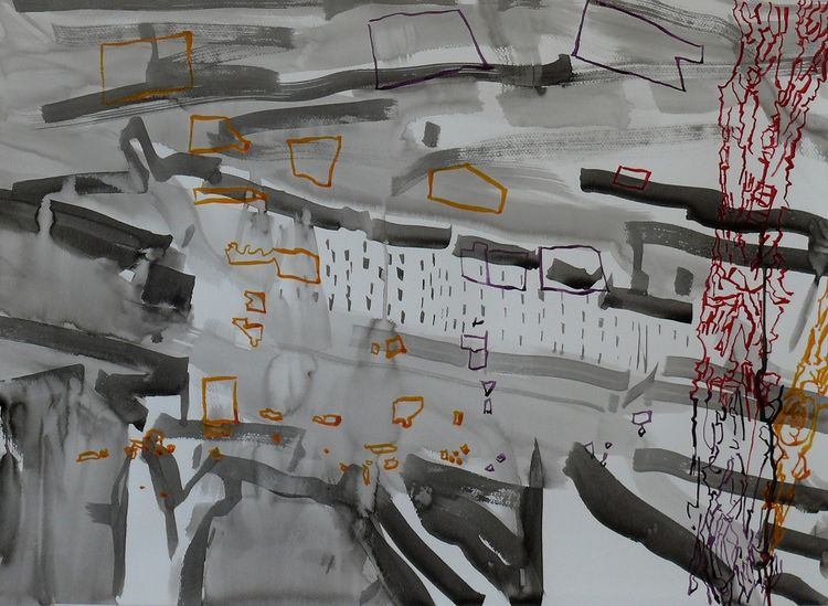Loss and Lucidity 1, ink on paper 56x76cm