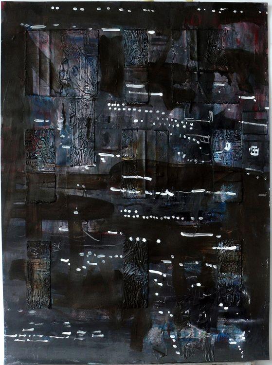 Hamburg 3, mixed media on paper 76x56cm