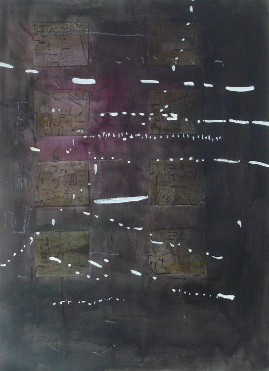 Hamburg 6, mixed media on paper 76x56cm