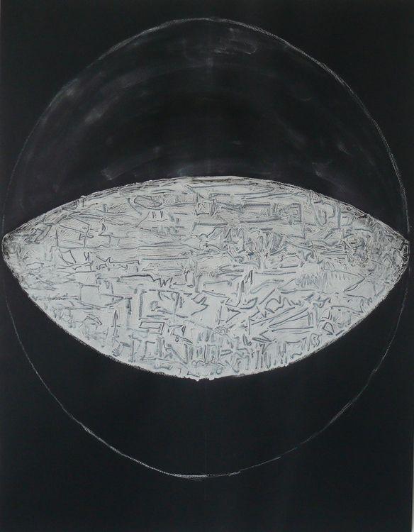 Dark City acrylic on black paper 65x50cm 2020