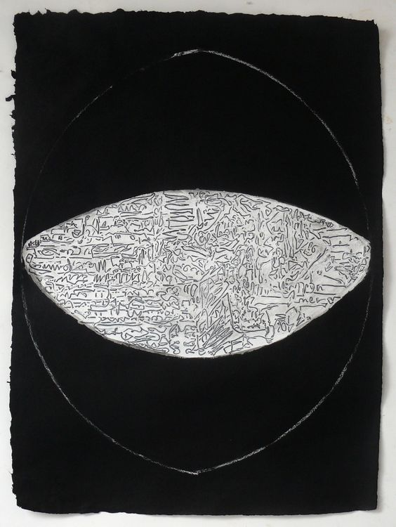 Dark City 76x56cm acrylic on paper 2020