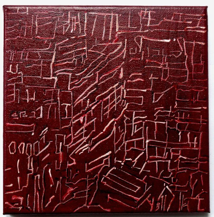 City 1, 20x20cm acrylic on canvas, 2020